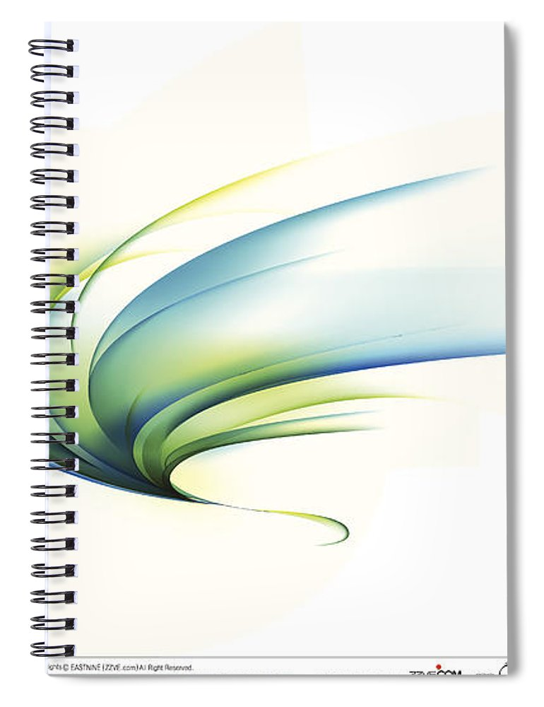 Curve Spiral Notebook featuring the digital art Curved Shape On White Background by Eastnine Inc.