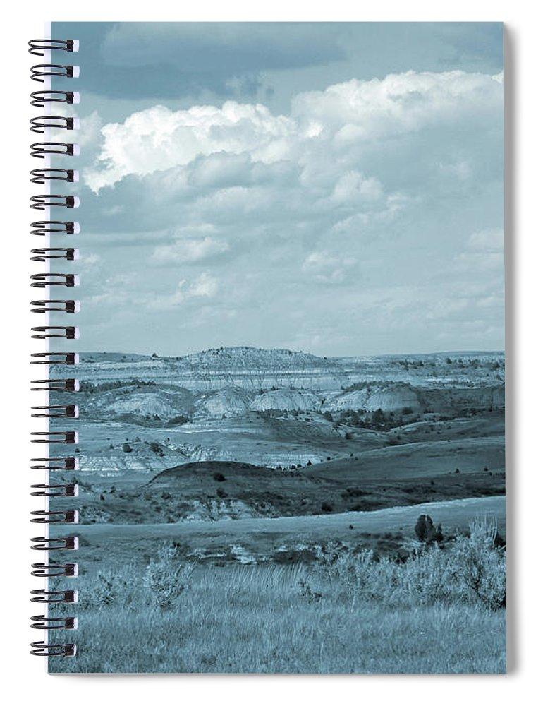 North Dakota Spiral Notebook featuring the photograph Dakota Grassland Shadows by Cris Fulton