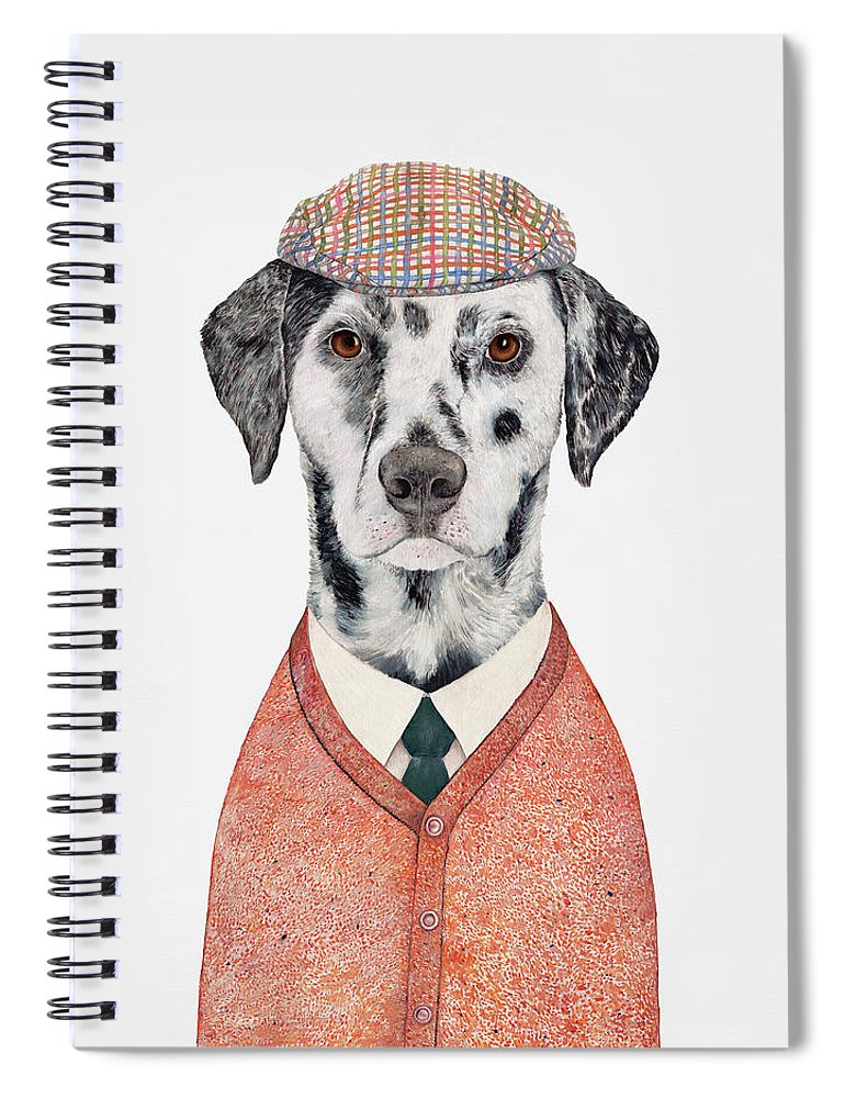 Dalmatian Spiral Notebook featuring the painting Dalmatian by Animal Crew
