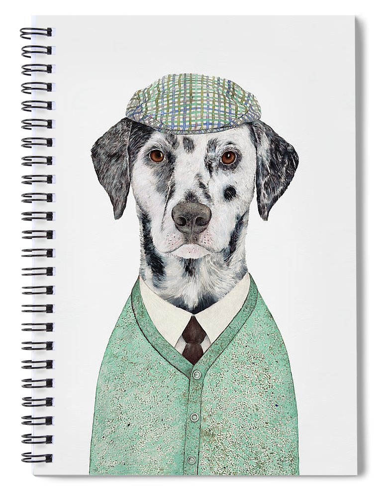 Dalmatian Spiral Notebook featuring the painting Dalmatian Mint by Animal Crew