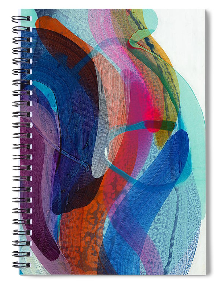 Abstract Spiral Notebook featuring the painting Dancing In The Kitchen by Claire Desjardins