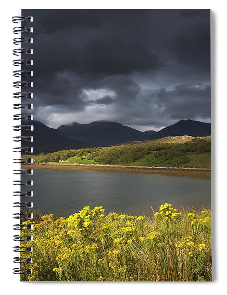 Tranquility Spiral Notebook featuring the photograph Dark Storm Clouds Hang Over The by John Short / Design Pics