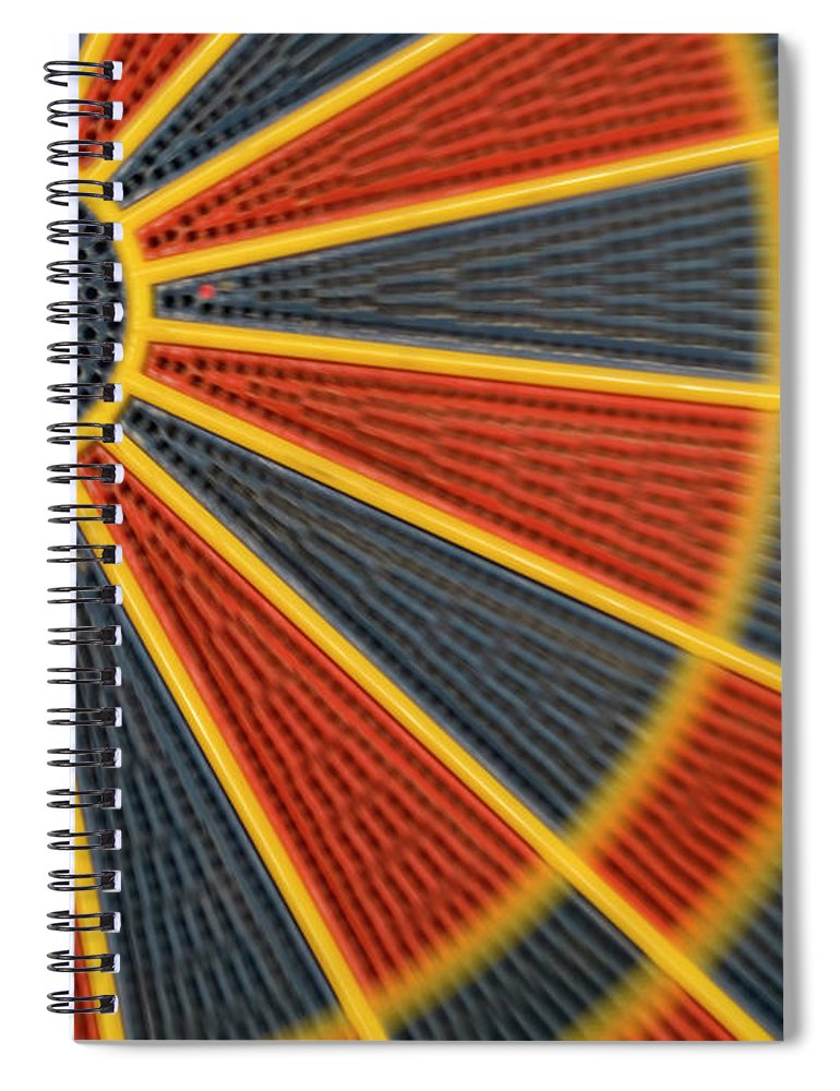 Dartboard Spiral Notebook featuring the photograph Dart by Juan R. Martos