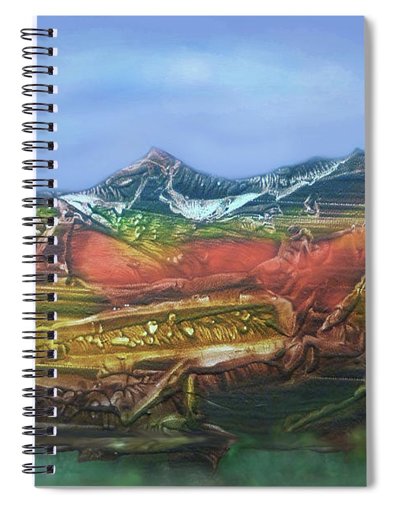 Otto Rapp Spiral Notebook featuring the digital art Decalcomania 2019-05-21 by Otto Rapp