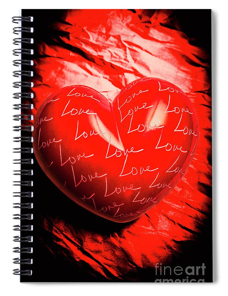 Heart Spiral Notebook featuring the photograph Decorated Romance by Jorgo Photography - Wall Art Gallery