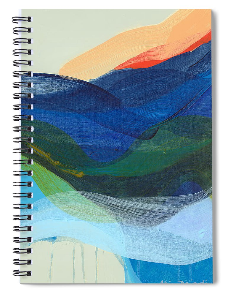 Abstract Spiral Notebook featuring the painting Deep Sleep Undone by Claire Desjardins