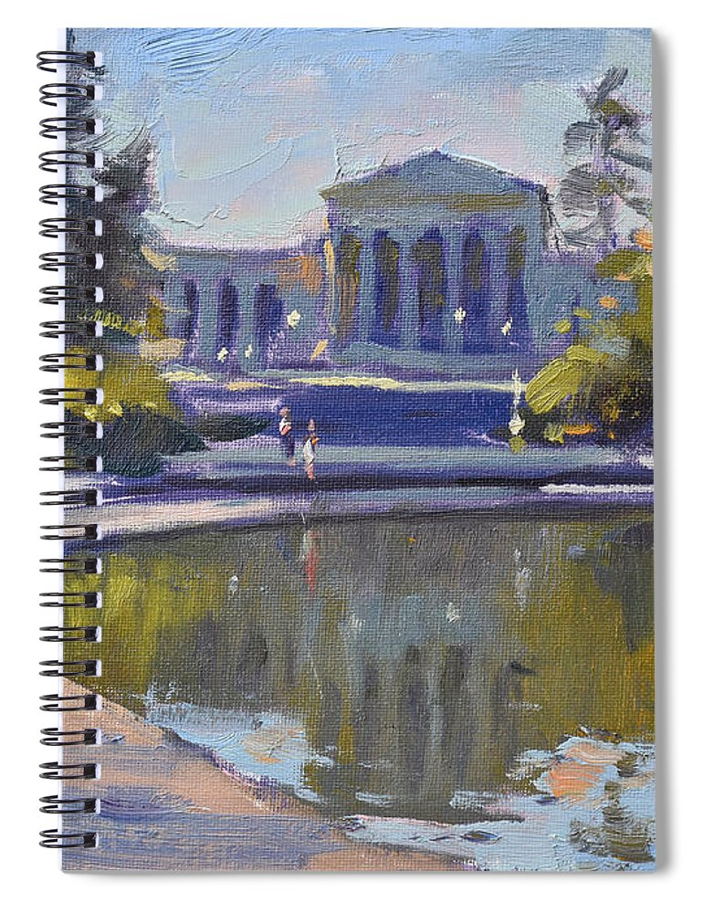 Delaware Park Spiral Notebook featuring the painting Delaware Park Buffalo by Ylli Haruni