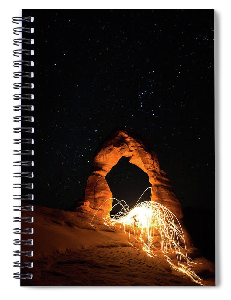 Delicate Arch Spiral Notebook featuring the photograph Delicate Arch Steel Wool by Nathan Bush