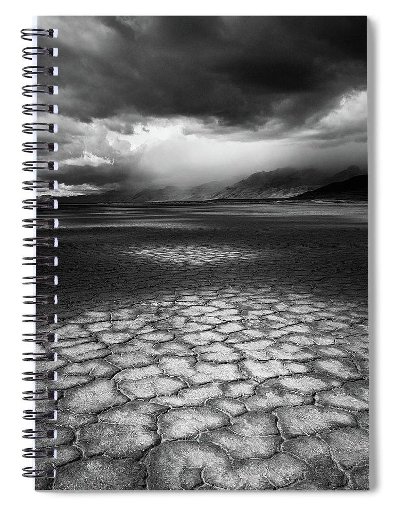 Outdoors Spiral Notebook featuring the photograph Desert Storm by Tim Gallivan