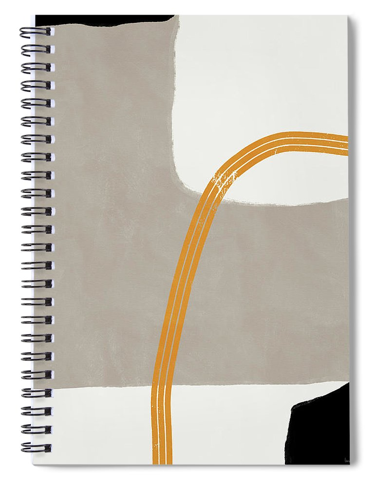Modern Spiral Notebook featuring the mixed media Destination 4- Art by Linda Woods by Linda Woods