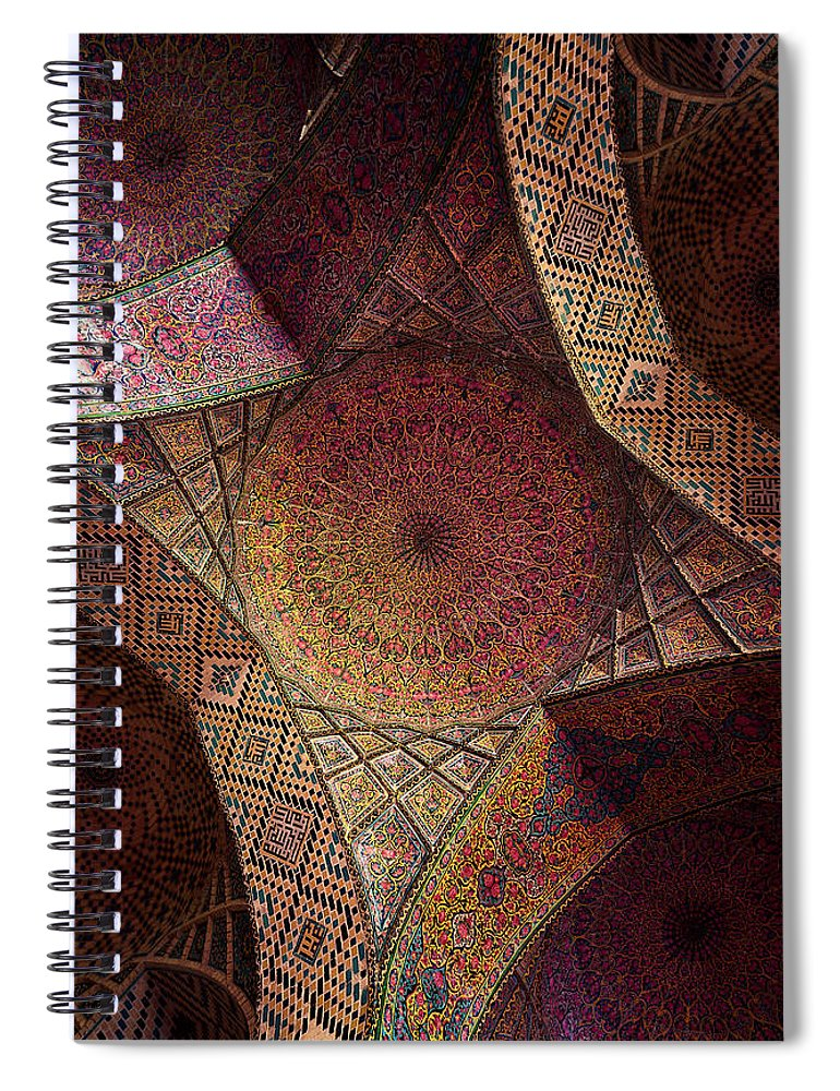 East Spiral Notebook featuring the photograph Detail Of The Ceiling Tilework by Len4foto