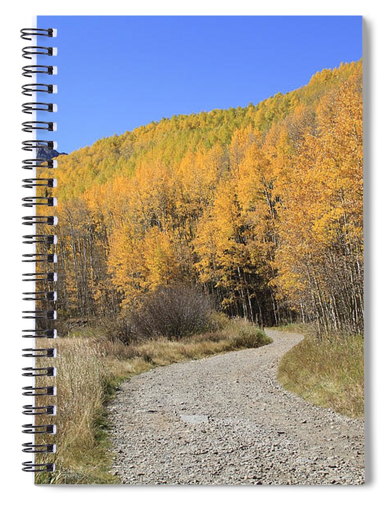 Scenics Spiral Notebook featuring the photograph Dirt Road In The Elk Mountains, Colorado by John Kieffer