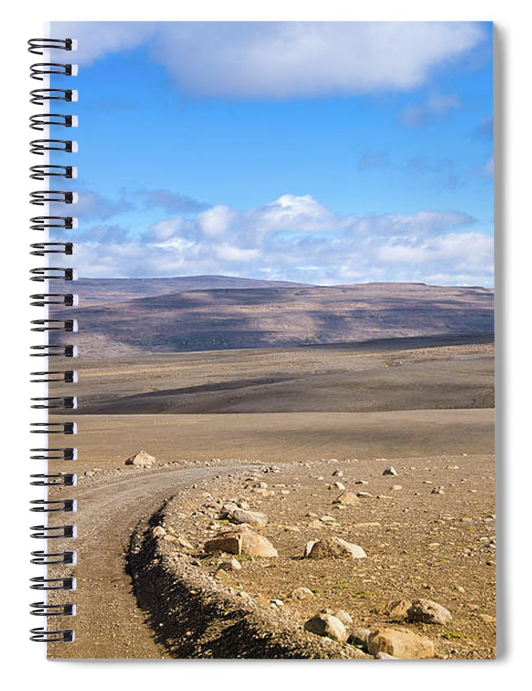 Scenics Spiral Notebook featuring the photograph Dirt Road Sprengisandur Central Iceland by Mlenny
