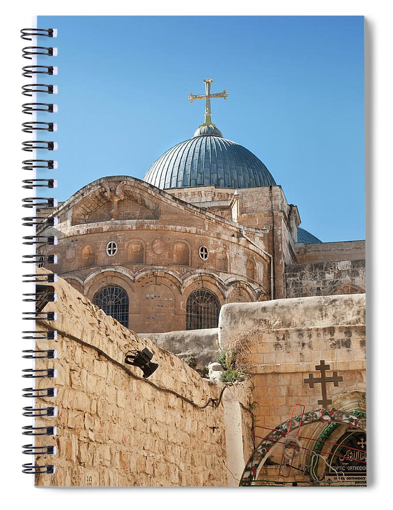 Built Structure Spiral Notebook featuring the photograph Dome Of The Church Holy Sepulchre by Kazakov
