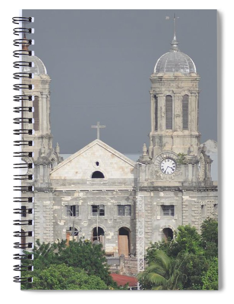 Building Spiral Notebook featuring the photograph Domed Towers by John Hughes