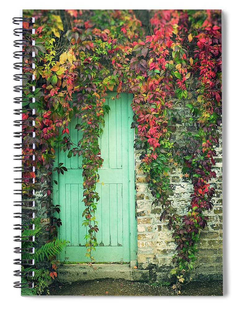 Tranquility Spiral Notebook featuring the photograph Door To The Secret Garden by Image By Catherine Macbride