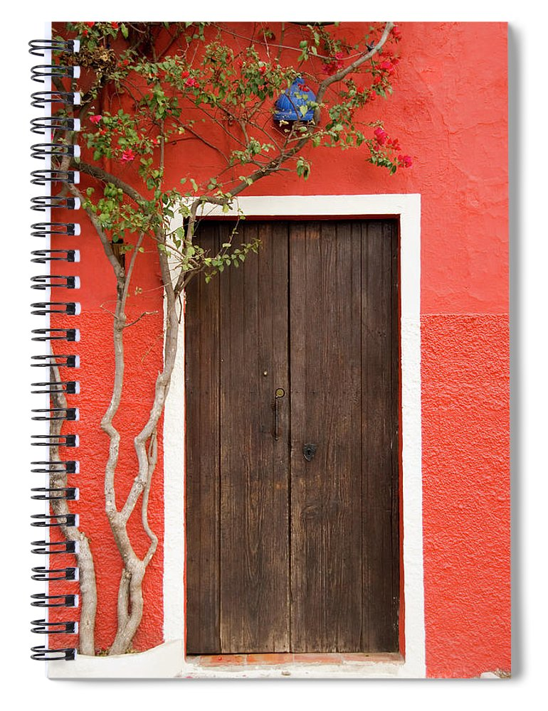 Built Structure Spiral Notebook featuring the photograph Doorway by Livingimages