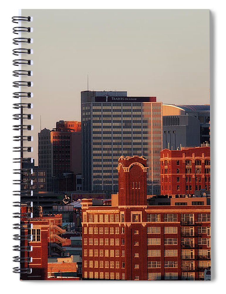 Downtown District Spiral Notebook featuring the photograph Downtown Kansas City by Eric Bowers Photo