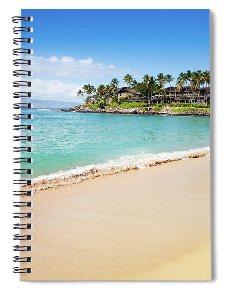 Lahaina Spiral Notebook featuring the photograph Dream Beach Napili Bay Maui Hawaii by Mlenny