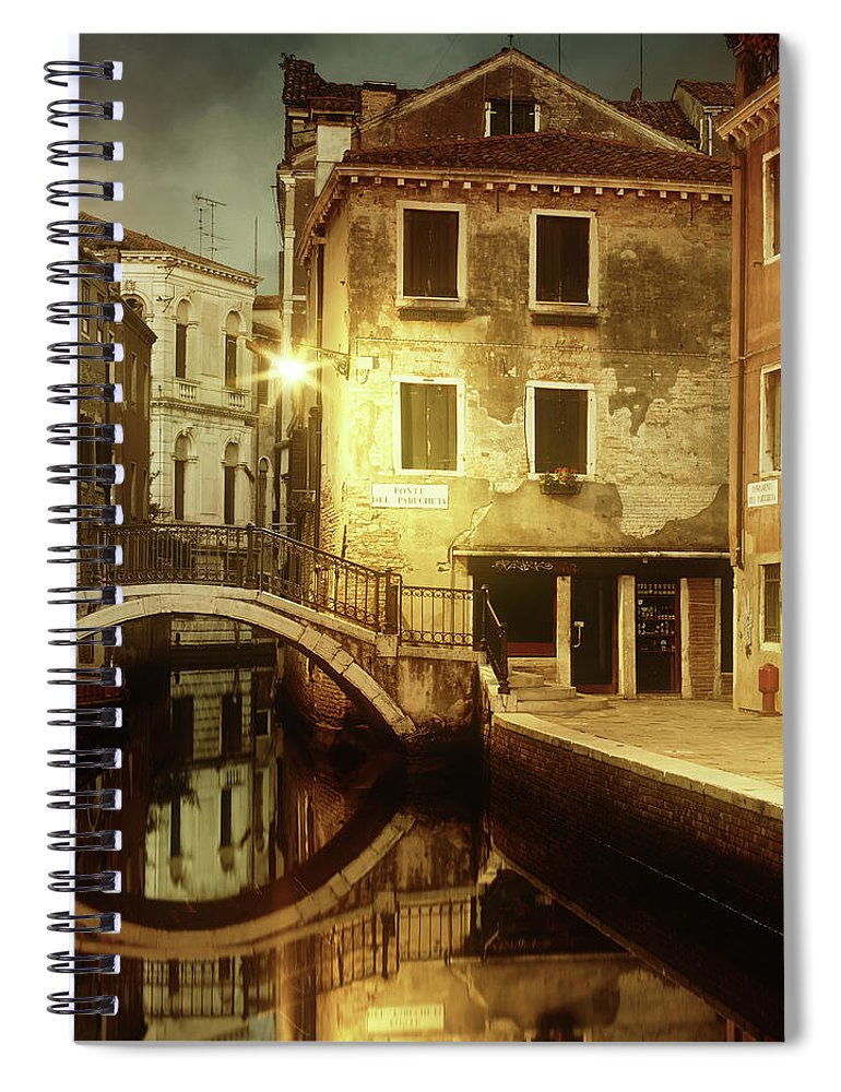 Empty Spiral Notebook featuring the photograph Dreaming Venice by Mammuth