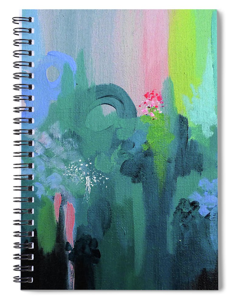 Sunset Spiral Notebook featuring the painting Dreamwalk 2 by Jordan Harcourt-Hughes