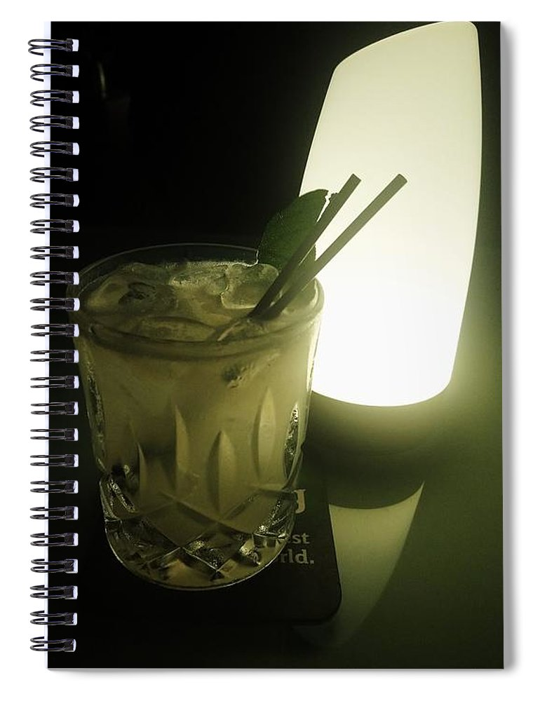 Drinks Spiral Notebook featuring the photograph Lime On Fire by Philip
