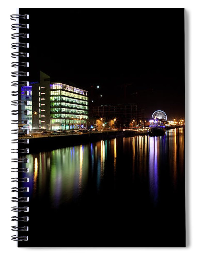 Dublin Spiral Notebook featuring the photograph Dublin City Along Quays by Image By Daniel King