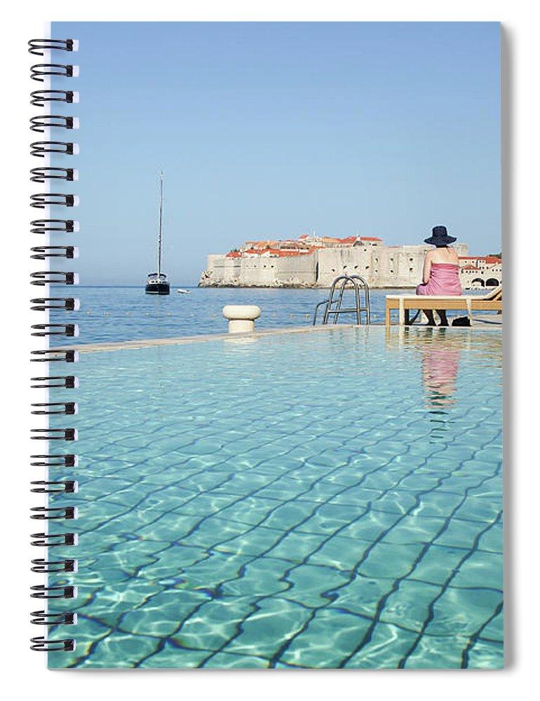 Adriatic Sea Spiral Notebook featuring the photograph Dubrovnik In Dalmatia, Croatia by Davidcallan