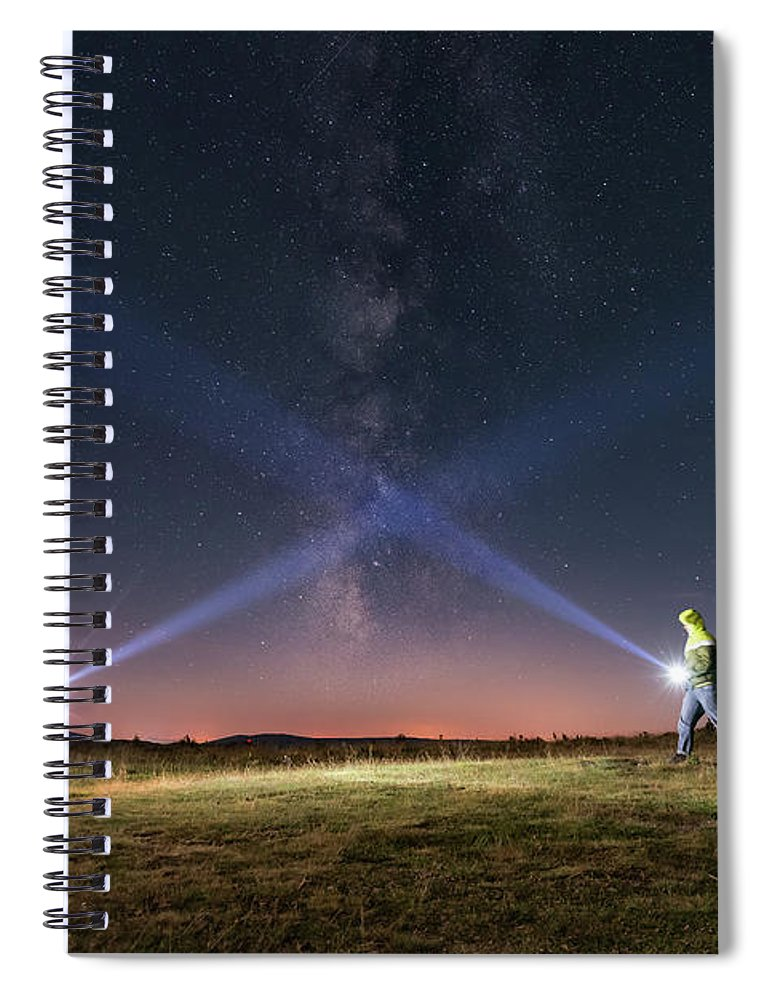 People Spiral Notebook featuring the photograph Duel Of Light by Carlos Fernandez