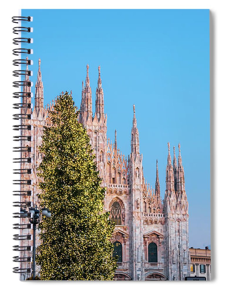 Gothic Style Spiral Notebook featuring the photograph Duomo Di Milano At Christmas by Mmac72