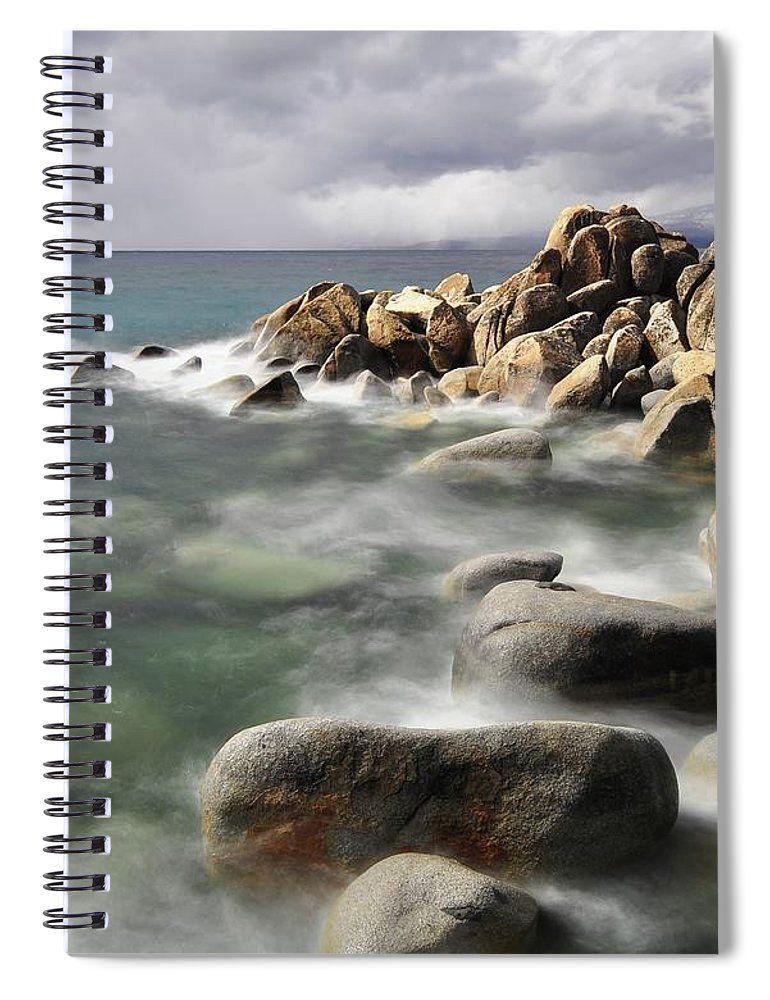Tranquility Spiral Notebook featuring the photograph East Shore, Lake Tahoe by Stevedunleavy.com