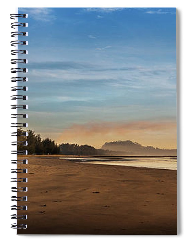 Tranquility Spiral Notebook featuring the photograph Eastern Edge Of Malaysia by Simonlong