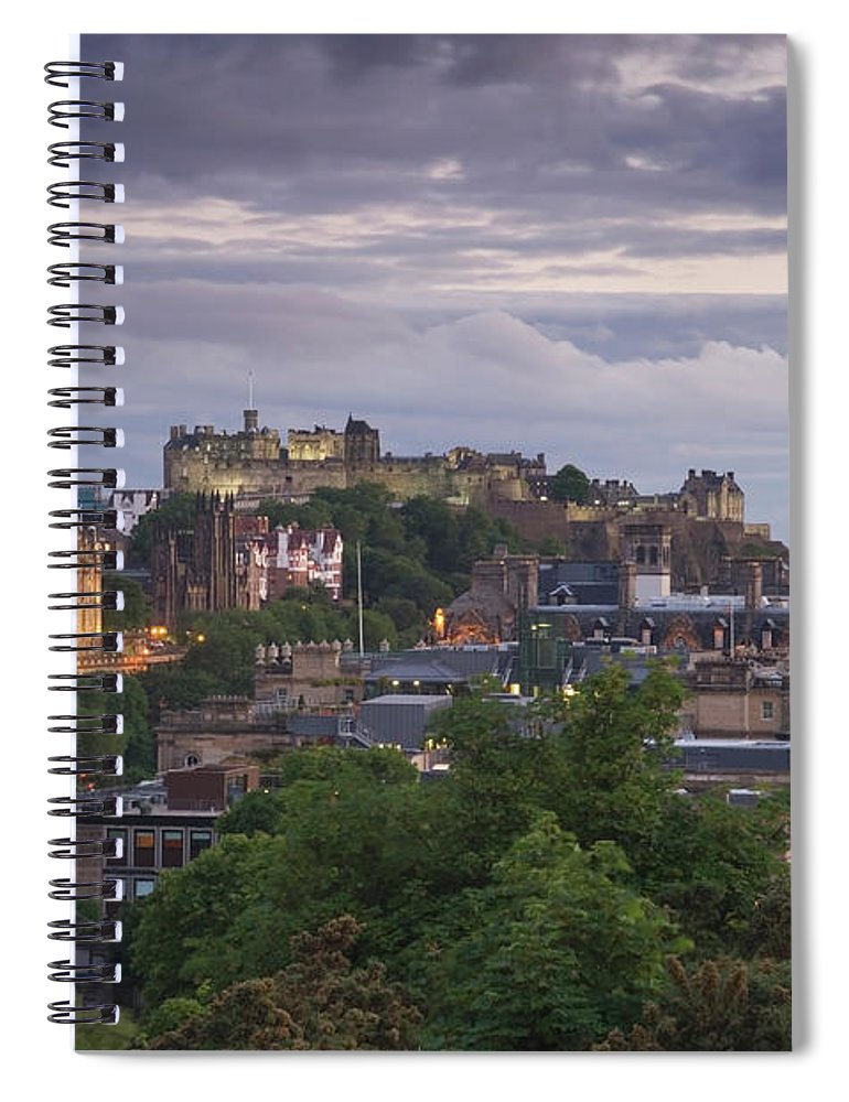 Lothian Spiral Notebook featuring the photograph Edinburgh At Dusk by Northlightimages