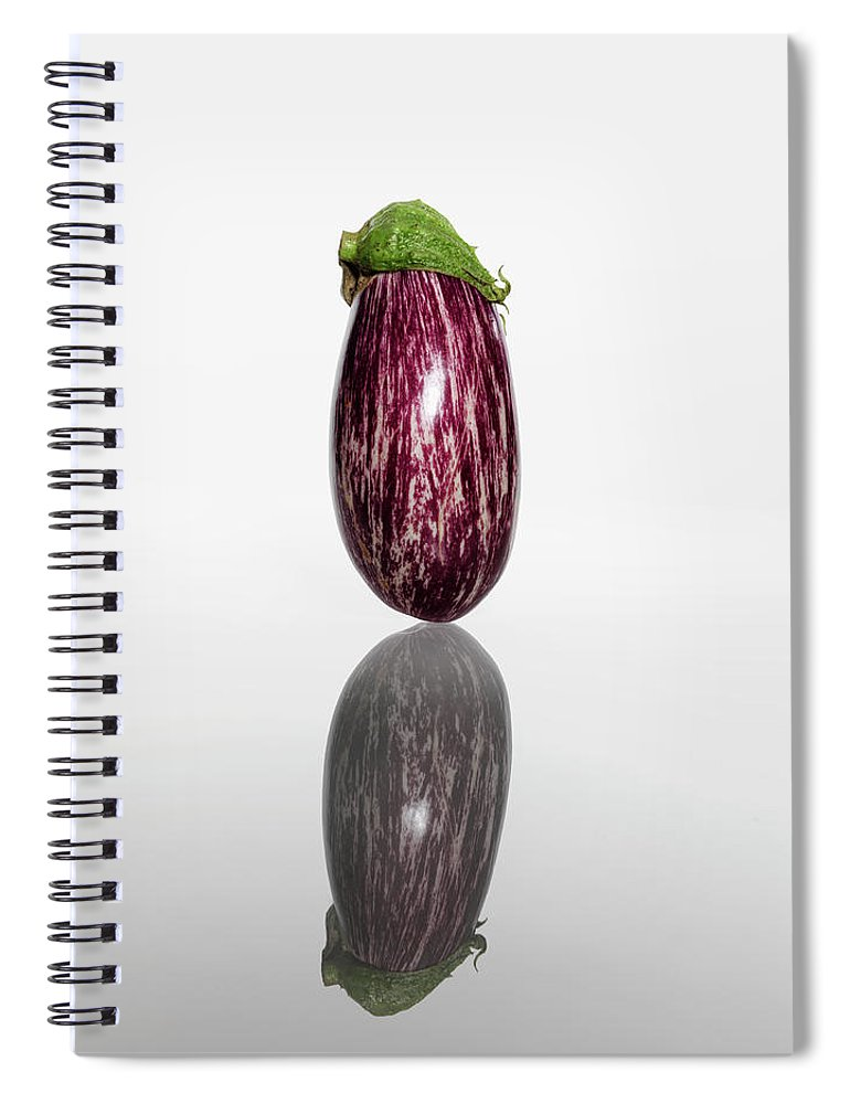 White Background Spiral Notebook featuring the photograph Eggplant by Kei Uesugi