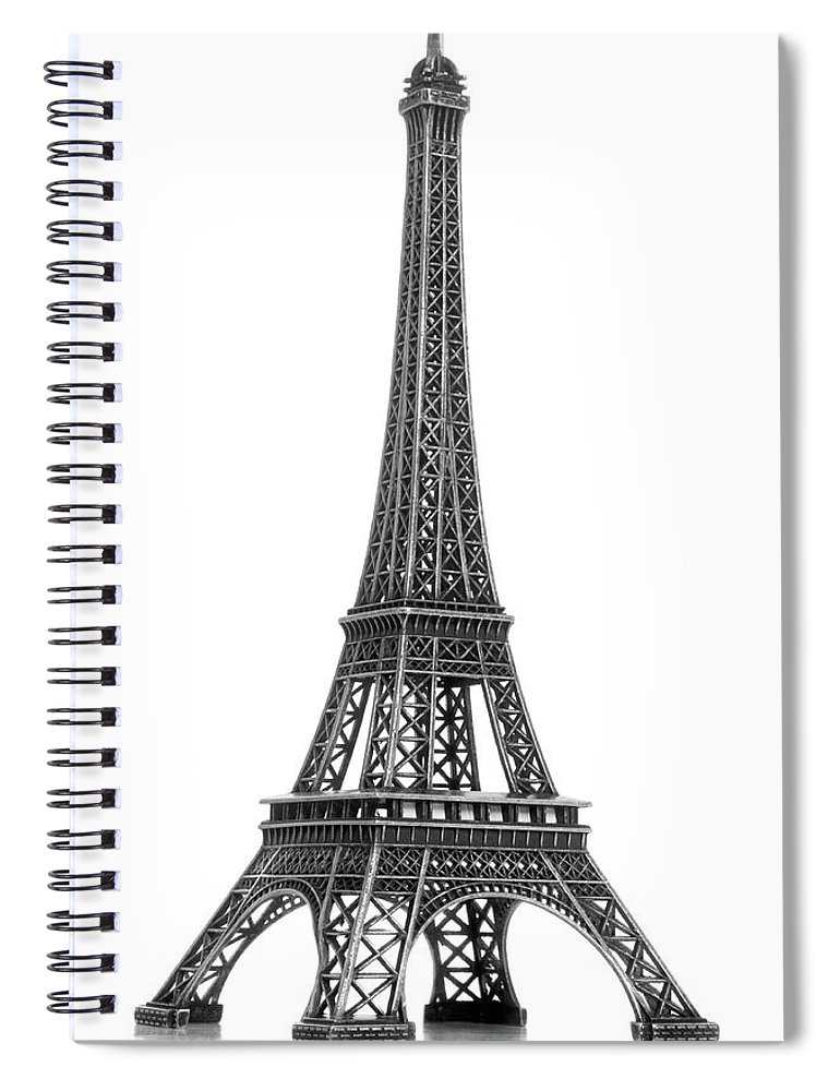 Architectural Model Spiral Notebook featuring the photograph Eiffel Tower by Jamesmcq24
