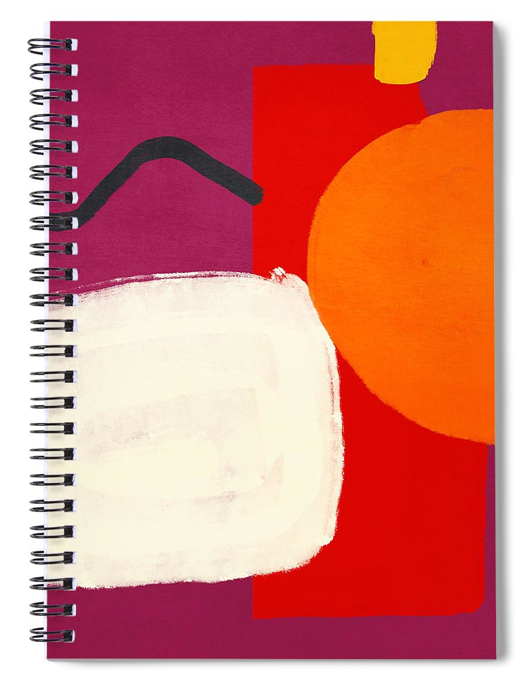 Abstract Spiral Notebook featuring the mixed media Elation 3- Abstract Art By Linda Woods by Linda Woods