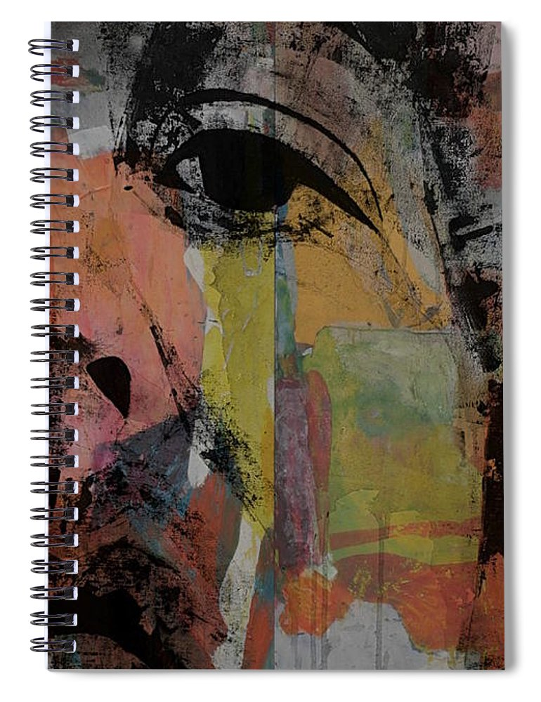 Paul Mccartney Spiral Notebook featuring the painting Eleanor Rigby - Paul Mccartney by Paul Lovering