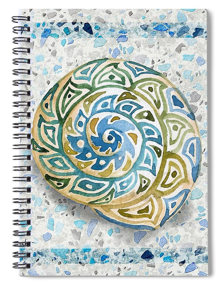 Watercolor Spiral Notebook featuring the painting Embellished Shells I by Paul Brent