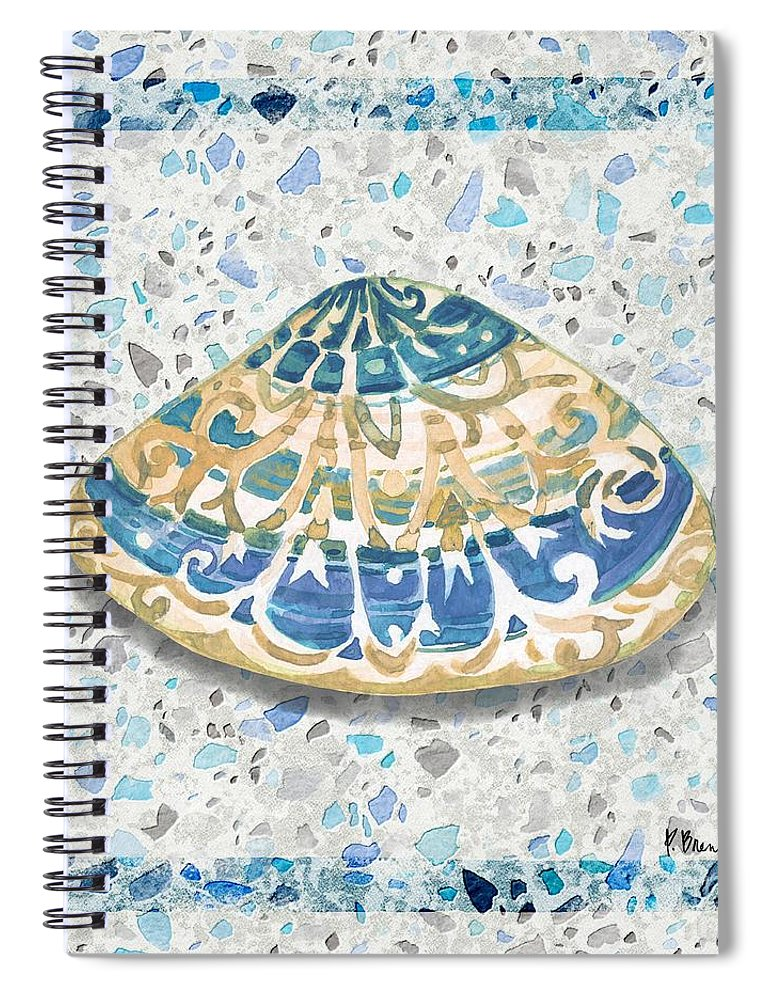 Watercolor Spiral Notebook featuring the painting Embellished Shells Iv by Paul Brent