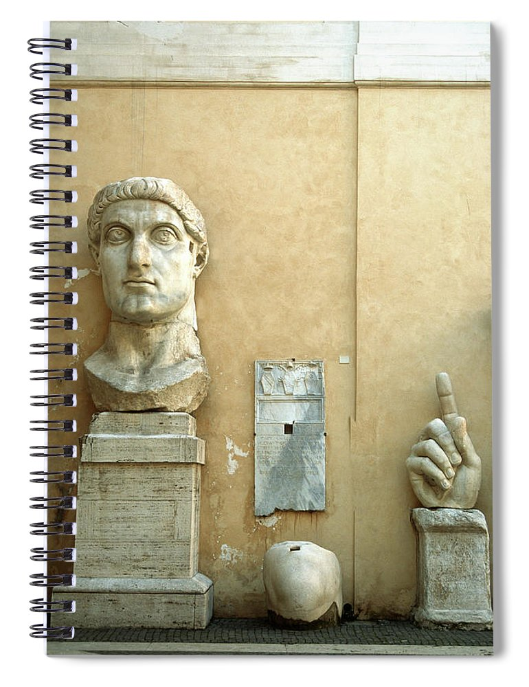 Statue Spiral Notebook featuring the photograph Emperor Constantine by Manuelvelasco
