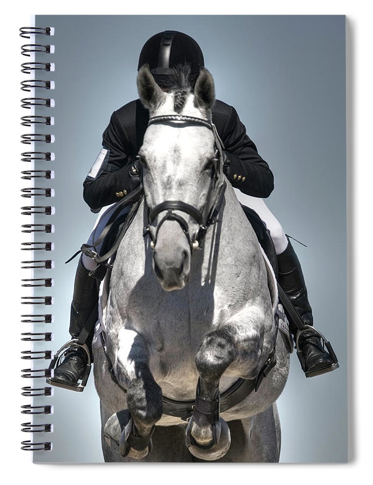 Horse Spiral Notebook featuring the photograph Equestrian Jumper by Rhyman007