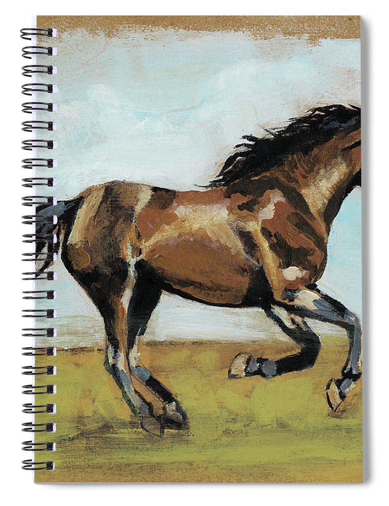 Animals Spiral Notebook featuring the painting Equestrian Studies I by Naomi Mccavitt
