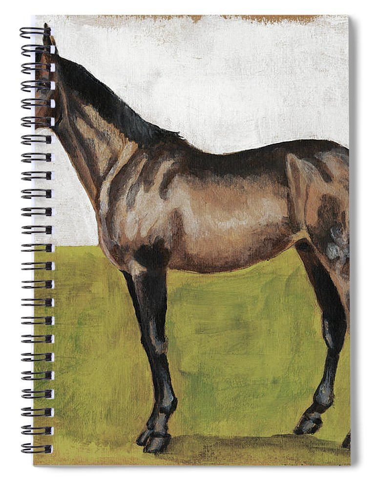 Animals Spiral Notebook featuring the painting Equestrian Studies Iv by Naomi Mccavitt