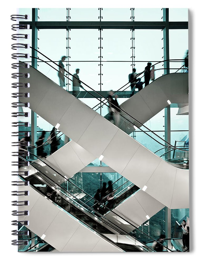 People Spiral Notebook featuring the photograph Escalator by Ymgerman