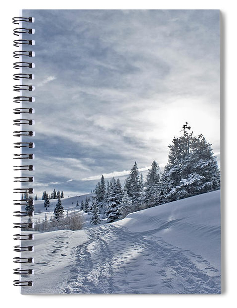 Shadow Spiral Notebook featuring the photograph Escape From Beaver Creek by Rauch Jonathan Photographies