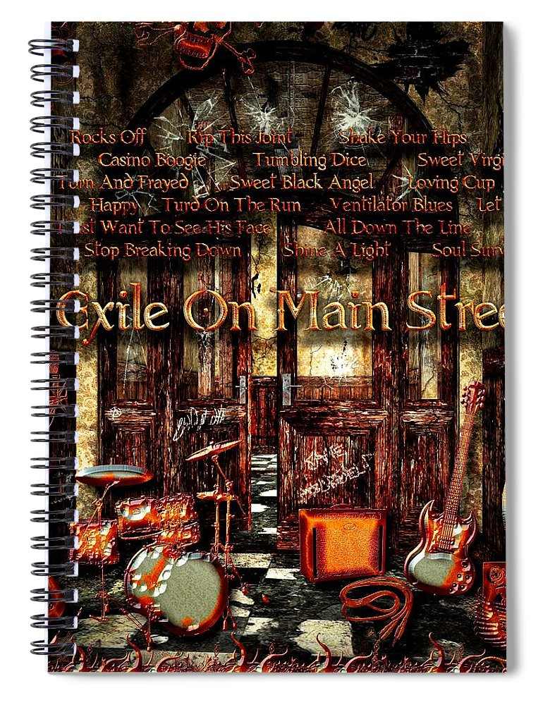 Exile On Main Street Spiral Notebook featuring the digital art Exile On Main Street by Michael Damiani