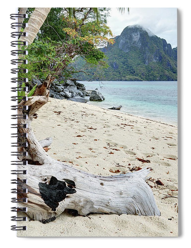 Water's Edge Spiral Notebook featuring the photograph Exotic Beach by Vuk8691