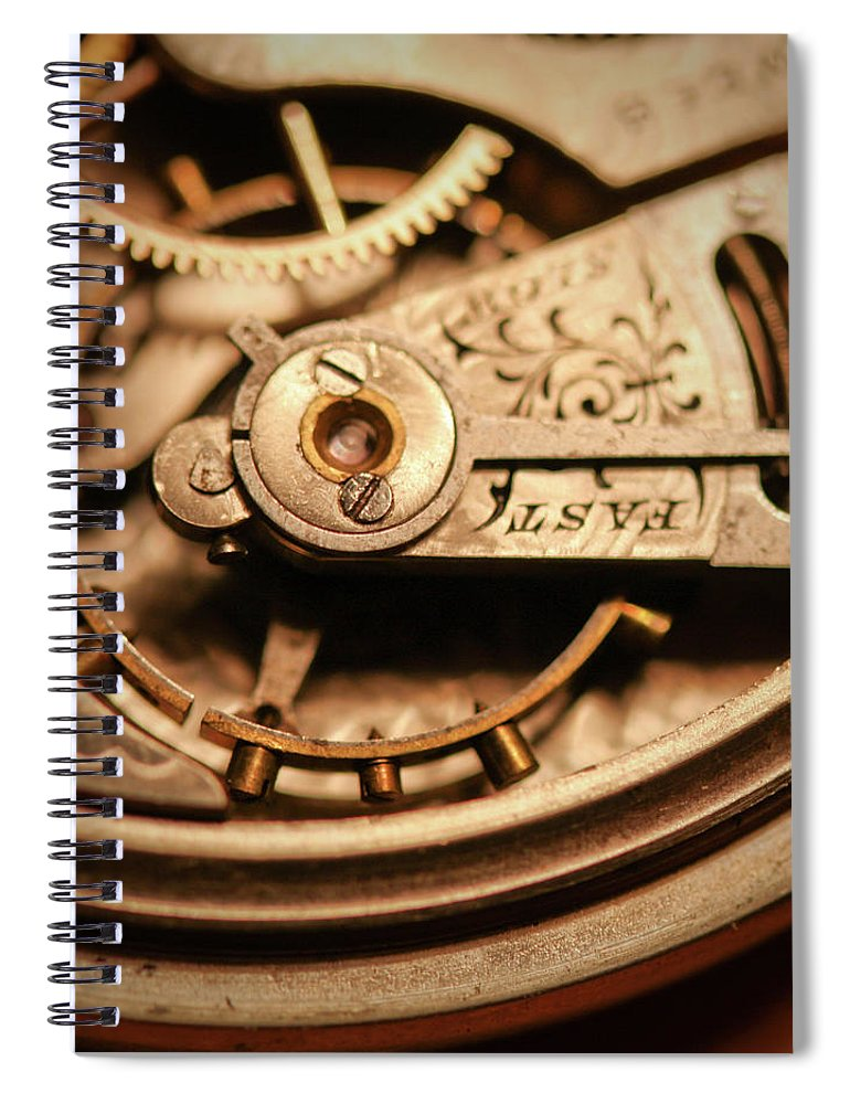 Michigan Spiral Notebook featuring the photograph Exposing The Inner Workings And Gears by Rudy Malmquist