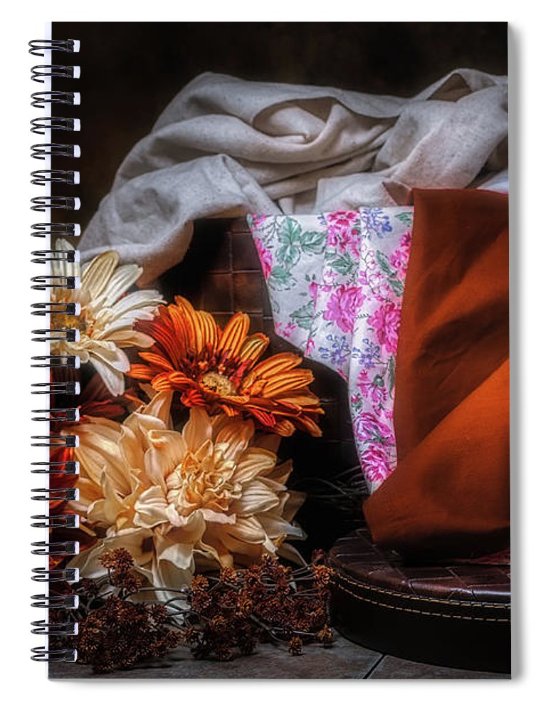 Art Spiral Notebook featuring the photograph Fabric And Flowers by Tom Mc Nemar