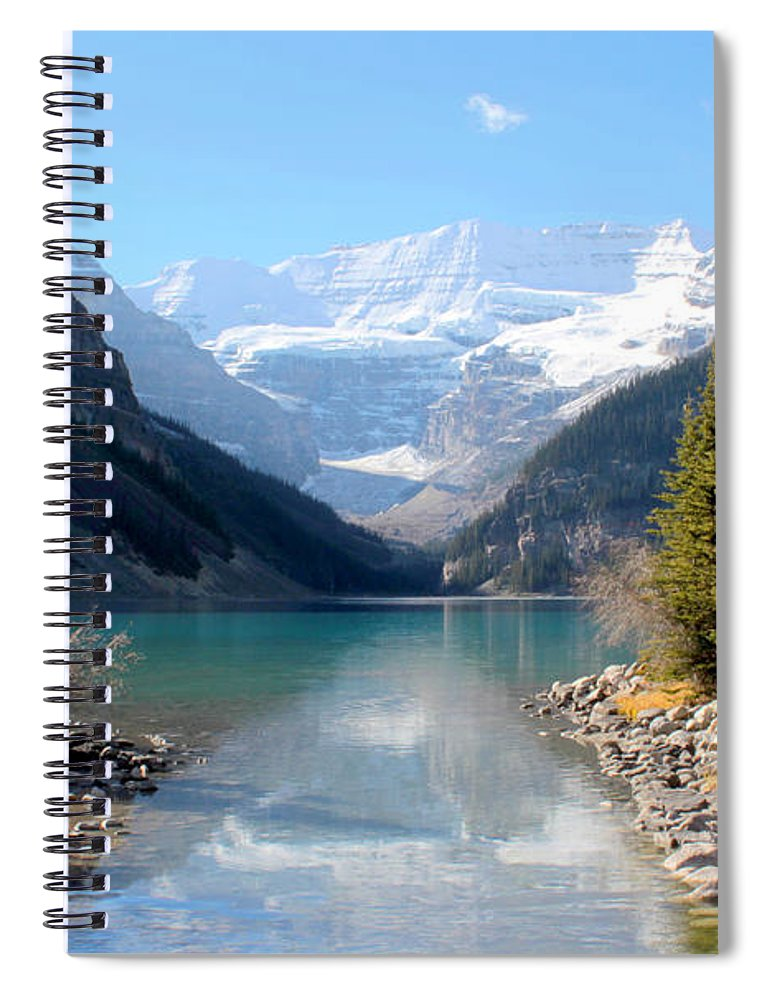 Tranquility Spiral Notebook featuring the photograph Fall At Lake Louise , Alberta, Canada by Cynthia Russell Photography